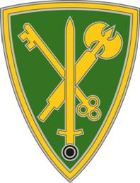 42nd Military Police Brigade Combat Service ID Badges